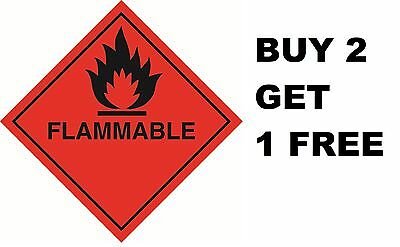 Warning Caution Health and Safety Hazard Sticker Flammable Fire Sticker Red 150