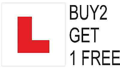 Learner Driver L Plate  Stickers Legal Car Decal For Window Or Bumper