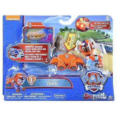 Paw Patrol Sea Patrol Light Up Zuma with Pup Pack & Mission Card - New Release