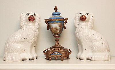 A Characterful Pair of Antique c19th Staffordshire Wally Dogs