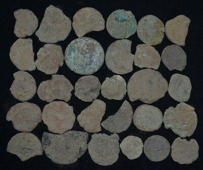 Group of 30 Ancient Roman Bronze coins. Roman Imperial, 235-476 AD Detector Lot