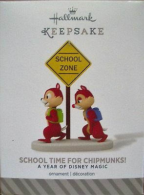 Hallmark 2014 - A Year Of Disney Magic - School Time For Chipmunks! - NEW