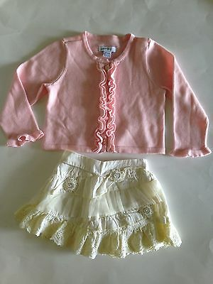 Two piece little girls outfit size 12 months