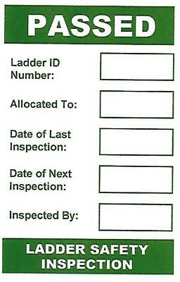 Ladder Safety Inspection Labels / Stickers (76 x 51mm)