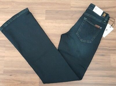 7 FOR ALL MANKIND Dojo Dark Stretch Jeans Girl Size 12 Boot Cut (7FGB1677)