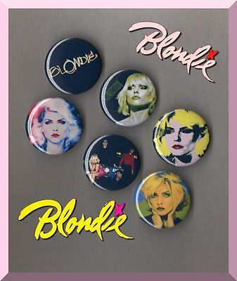 Blondie - Debbie Harry  6 X 31 mm Button Badges Set 4 - Blondie