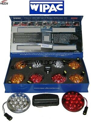 Land Rover Defender Led Light Kit With Plugs - 11 Lamps Wipac Upgrade Kit