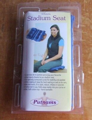 Putnams Inflatable Stadium Seat - Sports Gigs etc hard seating more comfortable