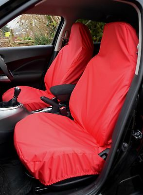 Fiat 500 2008 On Heavy Duty Waterproof Front Red Seat Covers 1+1