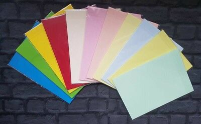 scrapbooking etc NEW 10 x A4 Sheets of Rainbow Card 200gsm for cards