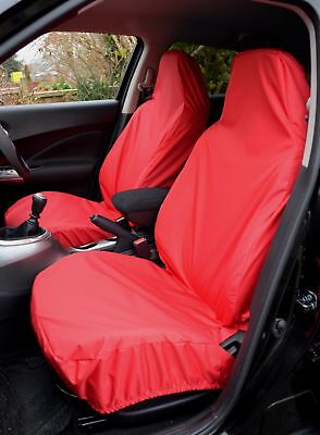 Toyota Yaris 2011> Heavy Duty Waterproof Front Red Seat Covers 1+1