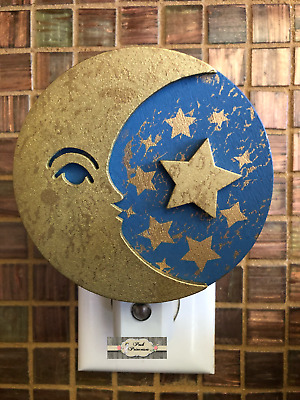 Nursery Night Lights - Night Light Baby Shower Moon & Stars Auto On/Off Sensor