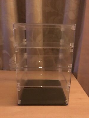 Plastic display cabinet can fit for four 1/500 model plane scale