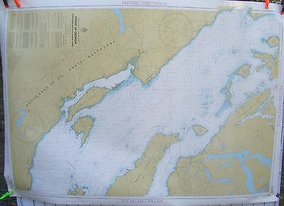 Canada BC Nautical Map Chart #3513 Strait of Georgia Northern Portion Nov 1984