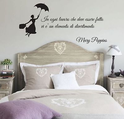 wall stickers frase adesivo murale mary poppins walt disney