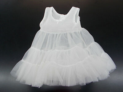 Infant & Toddler Girls Puff Nylon 3 Tiered Slip Sizes 24 Months - 6/6X