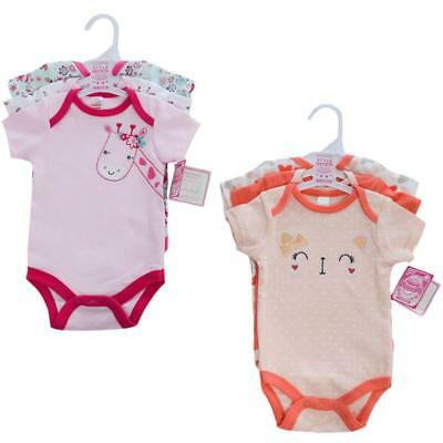 Baby girls 3 piece 100% Cotton set bodysuit cat and giraffe