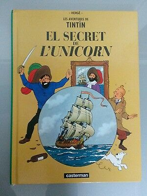 MINI TINTIN 23X17cm EL SECRET DE L'UNICORN CASTERMAN-PANINI DESCATALOGADO 2002