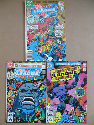 Justice League of America #140 1st Manhunters #184 #185 Darkseid VHTF RARE Movie