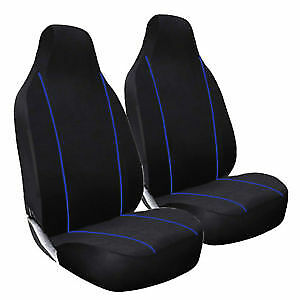 Hobby750 Lhd Motorhome Deluxe Blue Piping Car Seat Covers 1+1