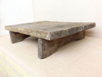 "21x15""/ 11 lbs ANTIQUE PRIMITIVE HEAVY FARMHOUSE WOODEN LOW DINING TABLE"