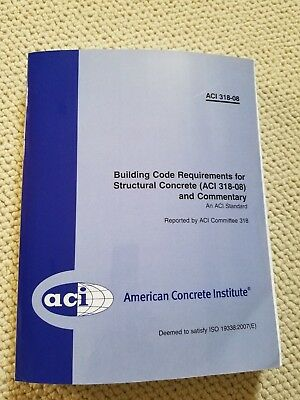 Aci 318-08 Building Code Requirements For Structural Concrete Paperback 473 Pg