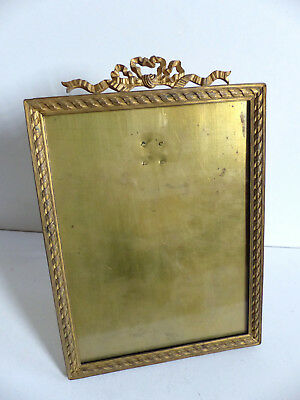 VERY FINE LARGE 19th C. FRENCH GILT BRONZE PICTURE FRAME c.1890's H = 10 3/4 ""
