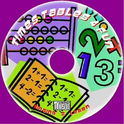 Childrens Times Tables For Fun Learn & Sing 2X-12X Tables Sing-Along Audio Cd