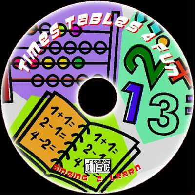 Childrens School Times Tables Learn & Sing 2X-12X Tables Sing-Along Audio Cd New