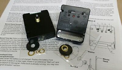 "2- Radio Controlled Atomic Clock Movements NEW for 1/4"" Dial w/ choice of Hands"