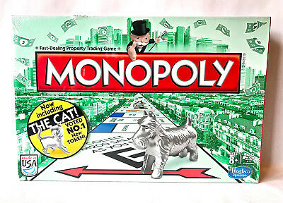 2013 Monopoly w/ New Cat token Factory Sealed