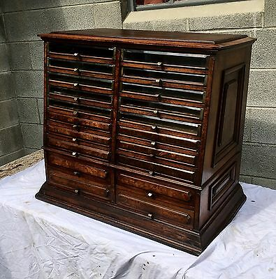 Victorian Walnut And Burl Spool Cabinet