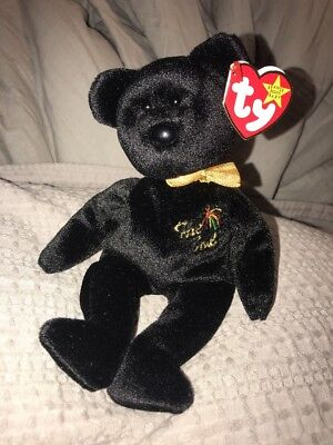 "Ty Beanie Babies Millenial Bear ""The End"" Plush Toy Retired NWT NEW"
