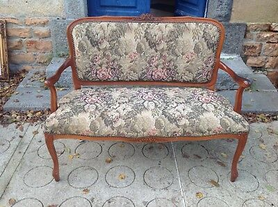 French vintage Louis Philippe style 2 seater sofa