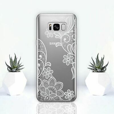 Floral Flower Mandala Rubber Case Cover for Samsung Galaxy S9 Plus S8 S7 S6 Edge