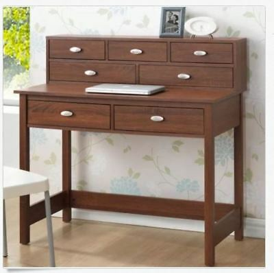 Writing Desk Drawers Small Table Hutch Storage Laptop Furniture Home Office  NEW