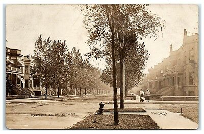 Early 1900s RPPC Green St., South of 65th St., Chicago, IL Real Photo Postcard