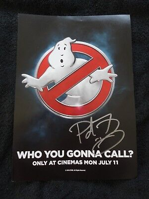 Ghostbusters promo poster signed by director Paul Feig