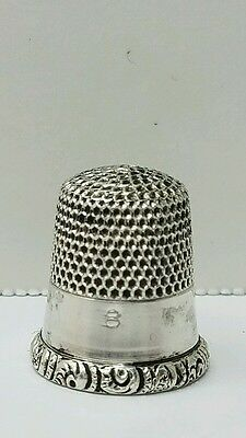 Antique KMD Sterling Thimble Ketcham McDougall Size 8