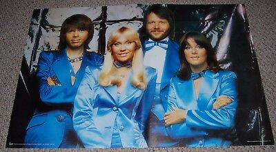 ABBA Blue Tuxedo Group Pose Poster 1977 Pace Intntl Holmes McDougall Scotland