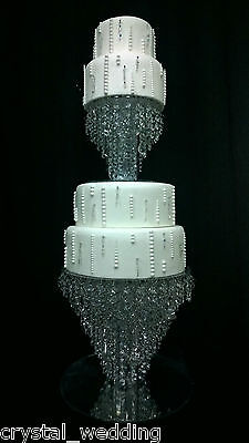 Chandelier cake stand Crystal cake stand for wedding  2 tier set - 20cm & 35cm