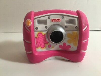 Fisher Price Kid Tough Electronic Digital Camera Pink Flowers Toy w/ Batteries