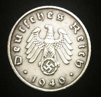 Rare Antique 5Pf Coin with Big EAGLE & SWASTIKA Authentic WW2 - Artifact