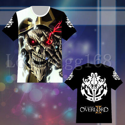 Anime Overlord Ainz Ooal Gown T shirt Tee Top Cosplay Costume Summer Casual Gift