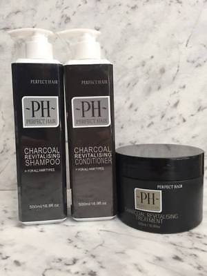 Charcoal Shampoo + Conditioner & Treatment PERFECT HAIR by PIERRE HADDAD