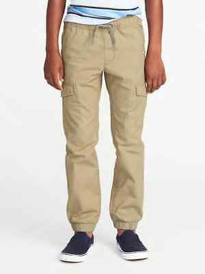 NWT Old Navy Boys Pull-On Built-In Flex Ripstop Cargo Joggers Pants NEW XL 14 16