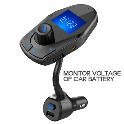 2018 Nulaxy Updated Bluetooth FM Transmitter Wireless Hands Free Car Charger Kit
