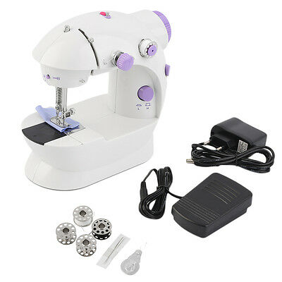 Multifunction Electric Mini Sewing Machine Household Desktop With LED New BN