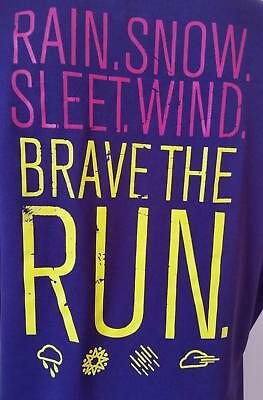Under Armour Womens T Shirt Size M Brave The Run Short Sleeve Top Pink Purple