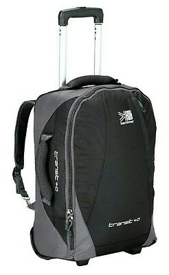 Karrimor Transit 40Lt Carry On Wheeled Bag With Backpack Straps